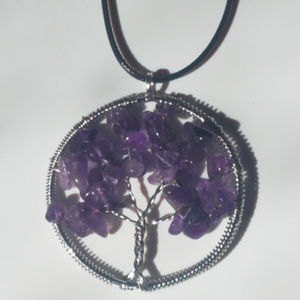 Jewelry - Tree of Life Amethyst Necklace Real Gemstone NEW